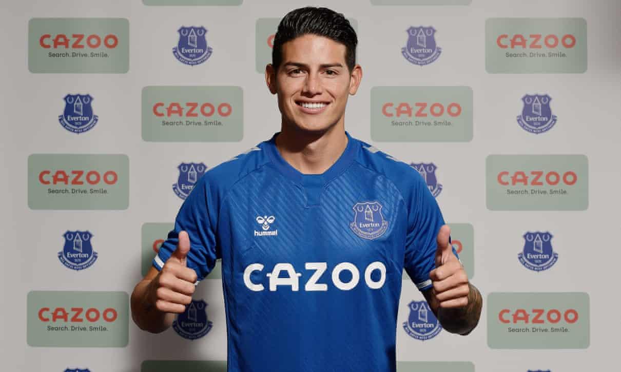 Everton Mengonfirmasi Perekrutan James Rodríguez dari Real Madrid Seharga £20 Juta