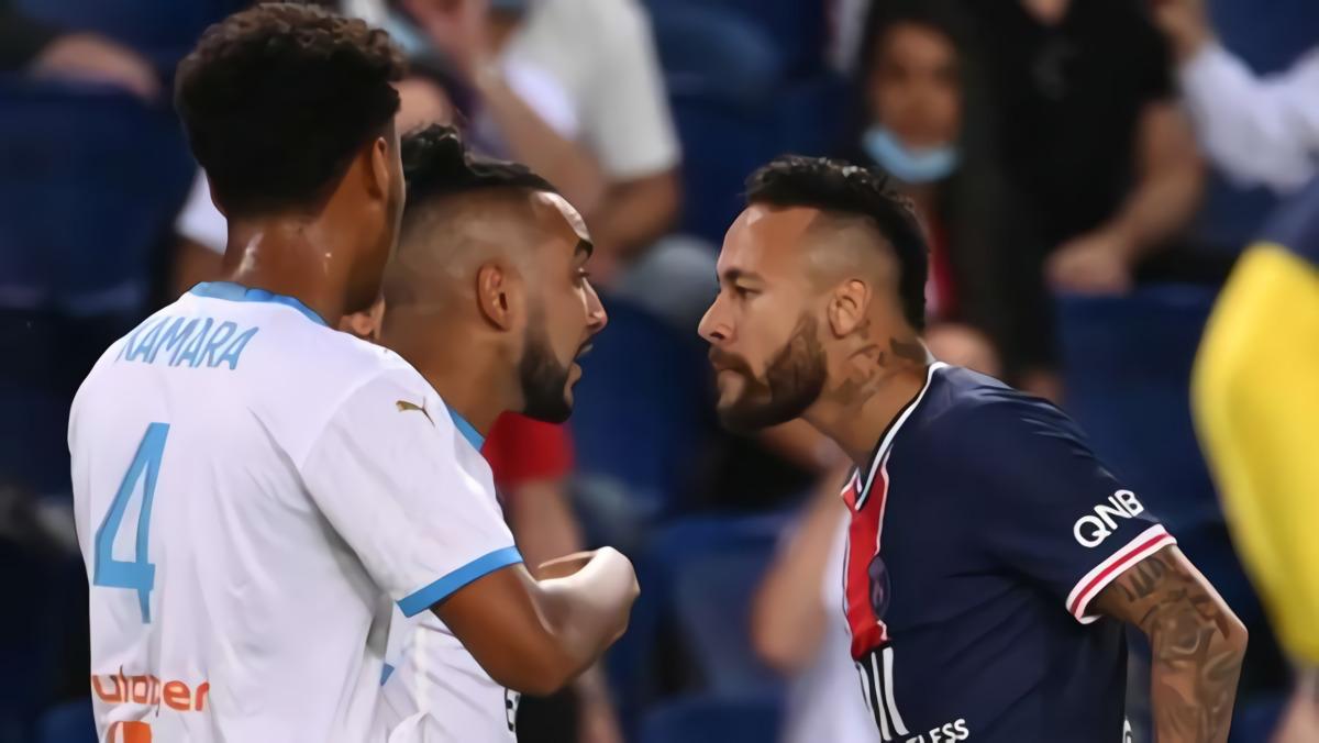 Diwarnai Lima Kartu Merah, Marseille Bungkam PSG