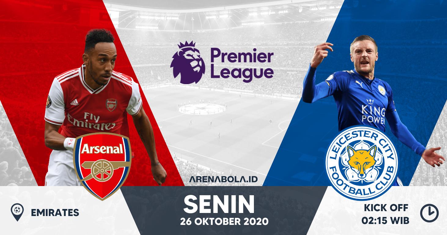 Prediksi Arsenal vs Leicester City 26 Oktober 2020