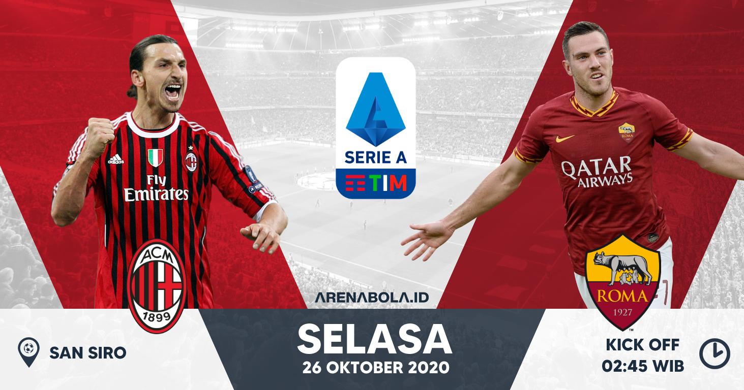 Prediksi AC Milan vs AS Roma 27 Oktober 2020