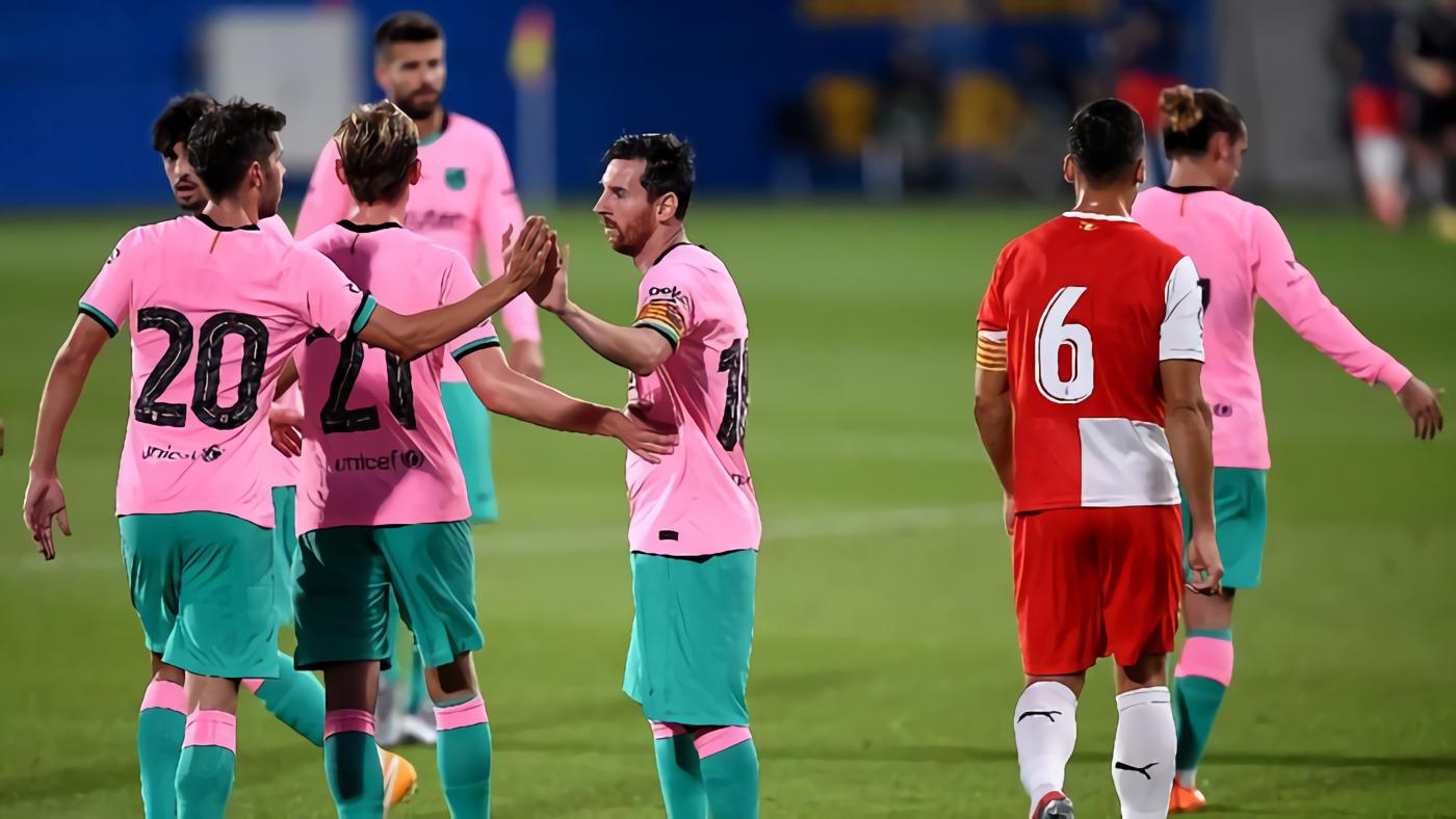 Hasil Uji Coba Barcelona Vs Girona: Messi Dua Gol, Blaugrana Menang 3-1