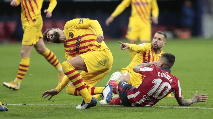 Barcelona Kalah, Gerard Pique Cedera