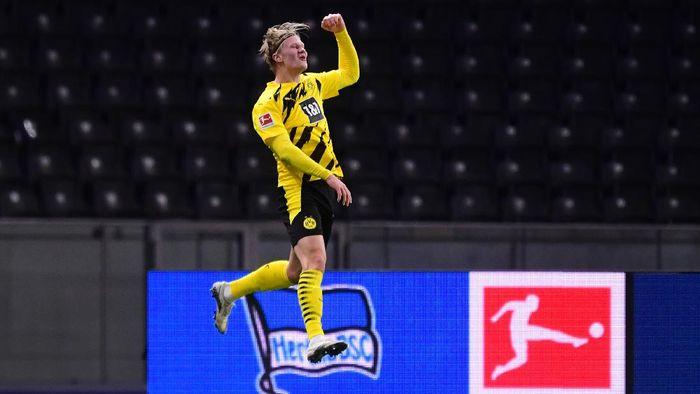 Hertha Berlin Vs Dortmund: Usai Quat-trick, Haaland Marah pada Pelatihnya