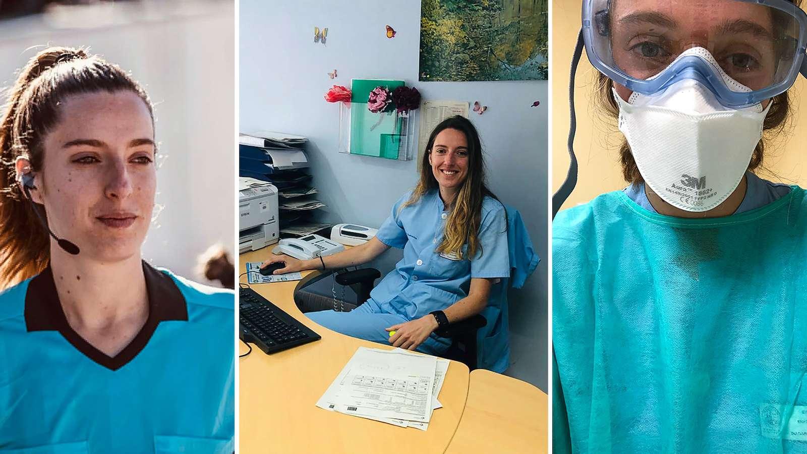 Pandemi Corona, Wasit Wanita Spanyol Alih Profesi Jadi Petugas Medis