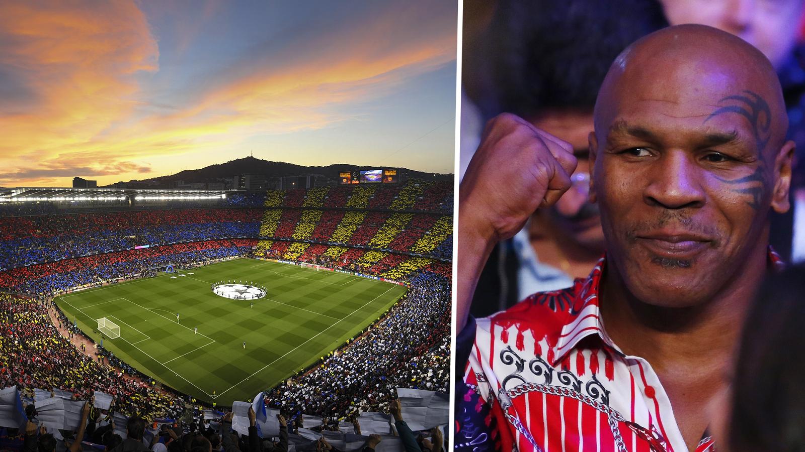 Perusahaan Ganja Mike Tyson Tertarik Beli Nama Camp Nou Barcelona