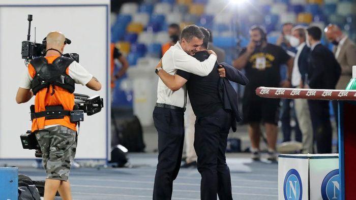 Napoli Vs Milan: Pelukan Hangat Iringi Pertemuan Gattuso dan Maldini